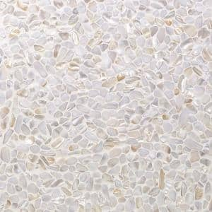 Pacif White Pebbles 11.81 in. x 11.81 in. x 2 mm Pearl Shell Mosaic Tile