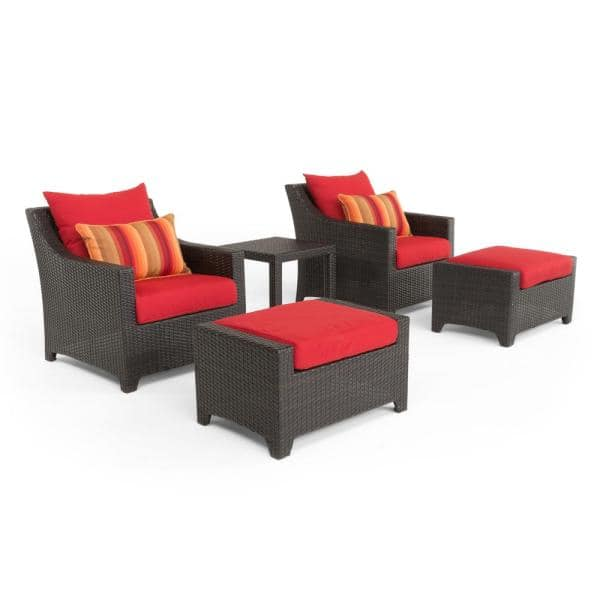 Rst Brands Deco 5 Piece All Weather, Patio Chairs With Ottoman