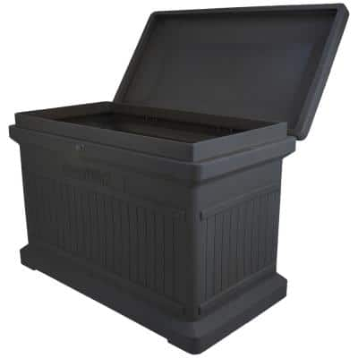 Graphite Premium Horizontal Architectrual ParcelWirx Delivery Drop Box Hinged Lid with Swinging Latch for Locking