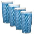 Fishnet 22 oz. Process Blue Insulated Drinkware (Set of 4)