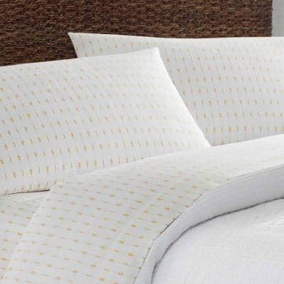 Pineapple Pinstripe Striped 200-Thread Count Cotton Sheet Set