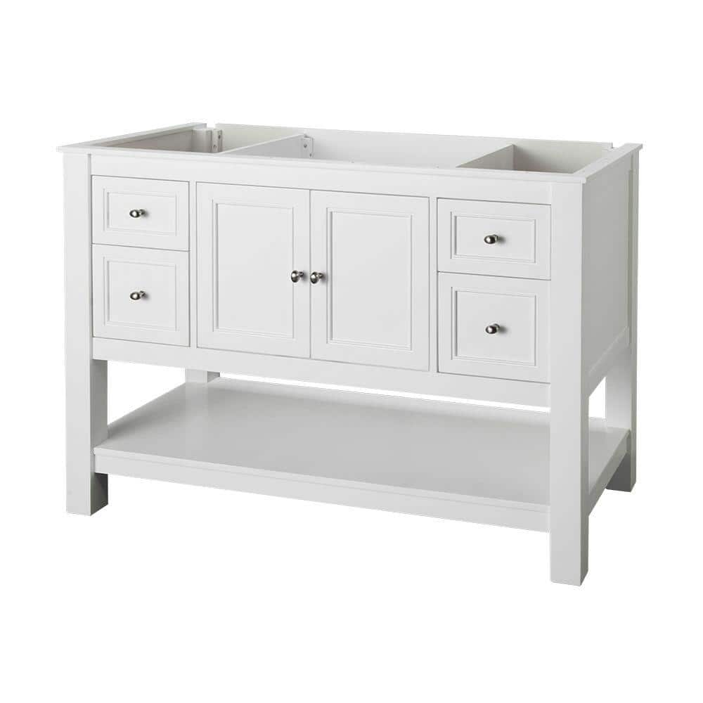 Home Decorators Collection Gazette 48 In W Bath Vanity Cabinet Only In White Gawa4822d The Home Depot