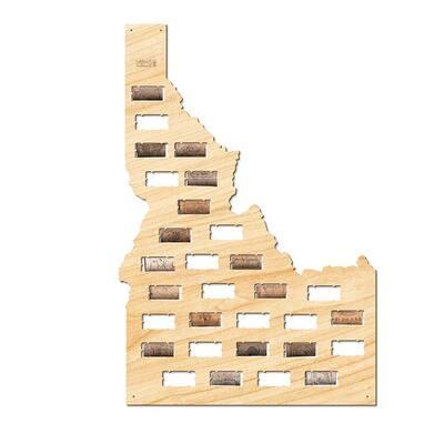 22 in. x 15 in. Idaho Wine Cork Map