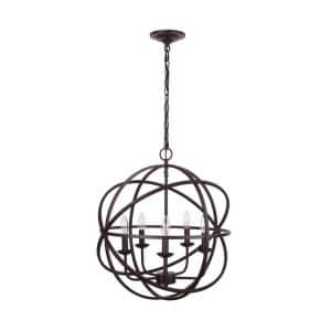 Sarolta Sands 5-Light Bronze Orb Chandelier