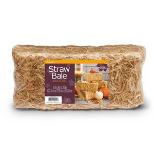 8 in. x 9 in. x 20 in. Decorative Straw Bale