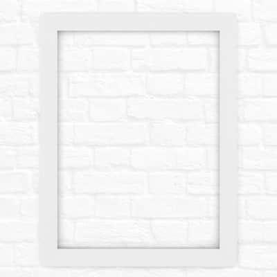 28 in. x 36 in. (M1) Rectangular Mirror Frame in Matte White