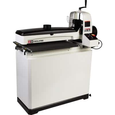 22 in./44 in. Oscillating Drum Sander with Closed Stand, 115-Volt JWDS-2244OSC