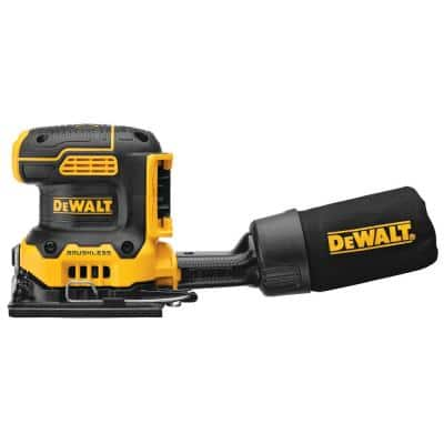 20-Volt MAX XR Cordless Brushless 1/4 Sheet Variable Speed Sander (Tool-Only) w/20-Volt 2 Ah Li-Ion Battery and Charger