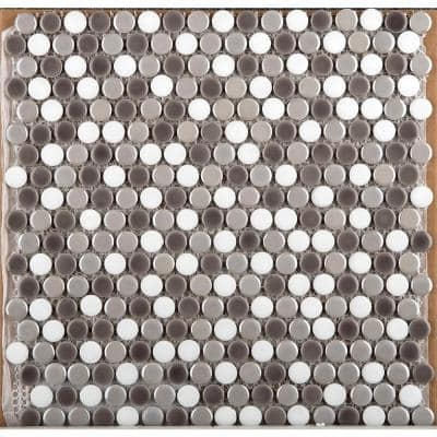 Confetti Freddo Gloss/Matte mix 11.81 in. x 11.81 in. x 0.8mm Porcelain Mesh-Mounted Mosaic Tile (0.97 sq. ft.)