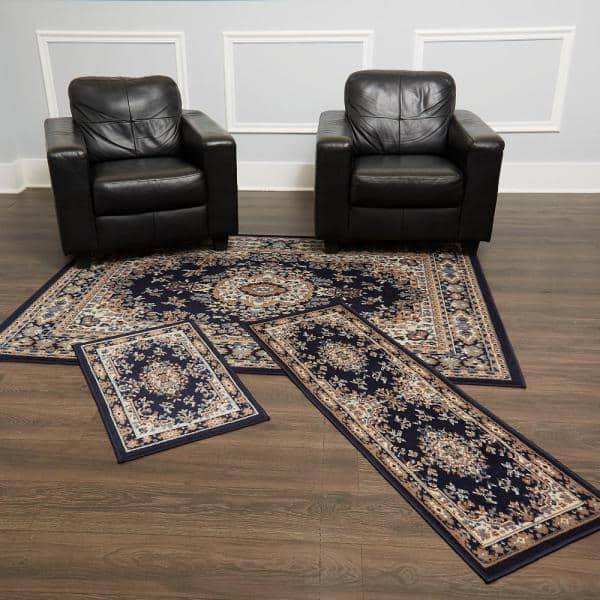 Home Dynamix Ariana Navy Blue 5 Ft X 7, Rug Sets For Living Rooms