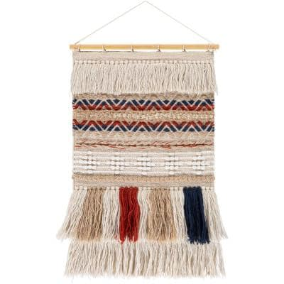 Valentina 20 in. x 32 in. Khaki Wall Hanging