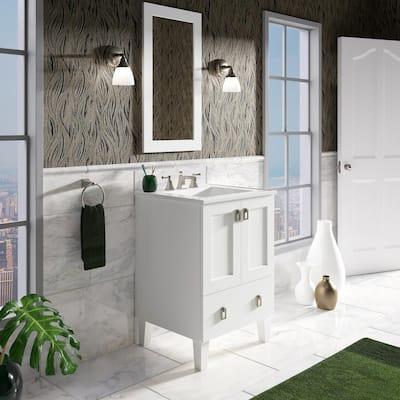Poplin 24 in. Bath Vanity Cabinet Only in Linen White