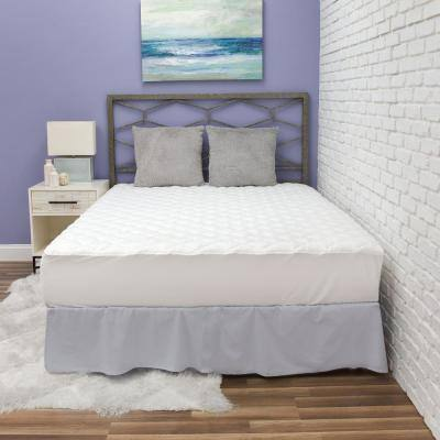 Fresh and Clean Ultra-Fresh Antimicrobial Treated Fabric Twin XL Polyester Fiber Mattress Pad