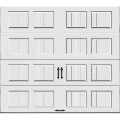 Gallery Collection 9 ft. x 8 ft. 6.5 R-Value Insulated Solid White Garage Door