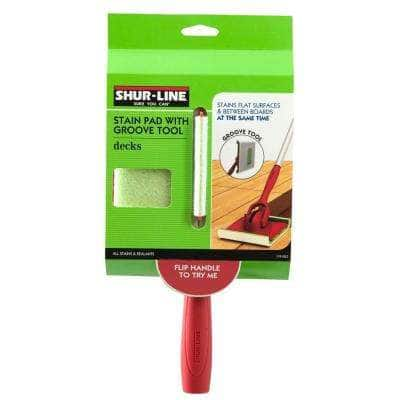 6 in. x 3 in. Deck Stain Pad with Groove Tool