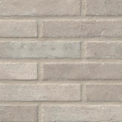 Capella Ivory Brick 2-1/3 in. x 10 in. Matte Porcelain Floor and Wall Tile (5.17 sq. ft. /Case)