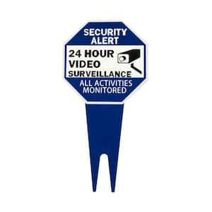 10 in. x 10 in. Aluminum Surveillance Yard Sign