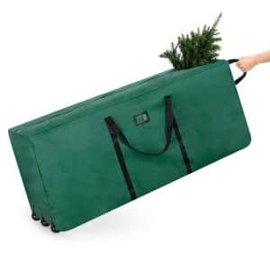 Green Rolling Artificial Tree Storage Bag for Trees Up to 9 ft. Tall