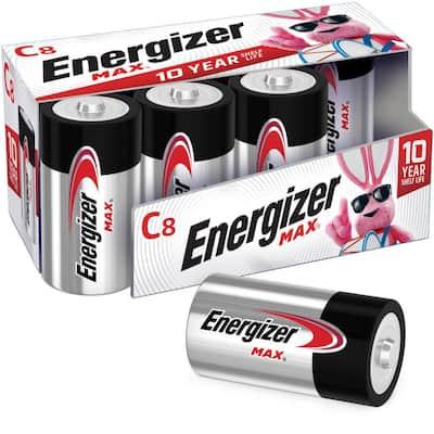 Energizer MAX Alkaline C Batteries, 8 Pack