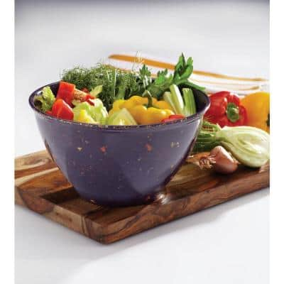 Garbage Bowl with Rubber Base in Purple
