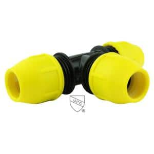 1-1/4 in. IPS DR 11 Underground Yellow Poly Gas Pipe Tee