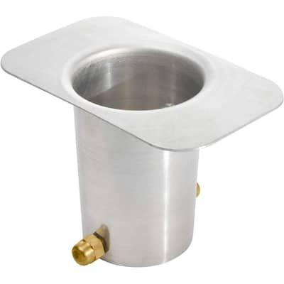 Monarch Aluminum Mill Finish Gutter Adapter with Brass Bolt