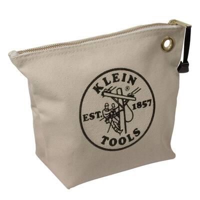 10 in. Consumables Natural Canvas Zipper Bag