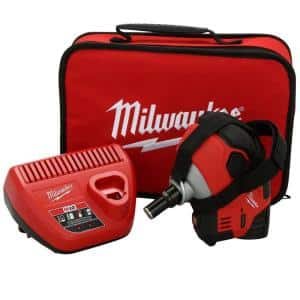 M12 12-Volt Lithium-Ion Cordless Palm Nailer Kit with One 1.5Ah Battery, Charger and Tool Bag