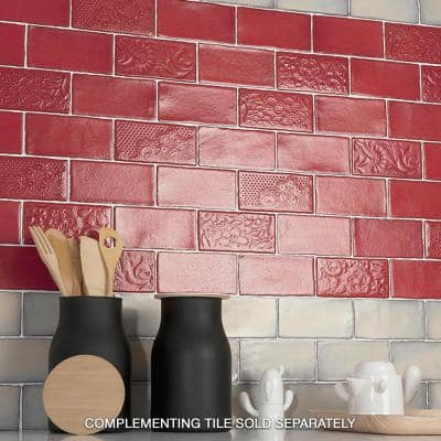 Antic Special Red Moon 3 in. x 6 in. Ceramic Wall Subway Tile (4.38 sq. ft. / Case)