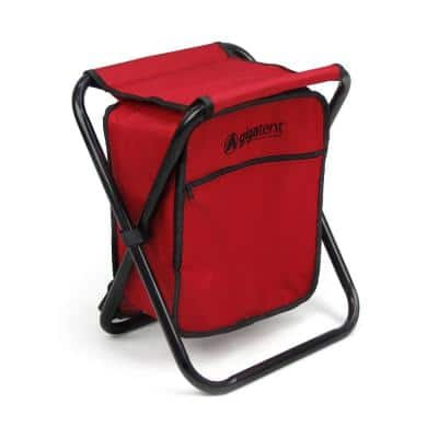 20-Can Collapsible Folding Cooler and Stool Backpack with Multi-Function Camping Seat and Insulated Ice Bag
