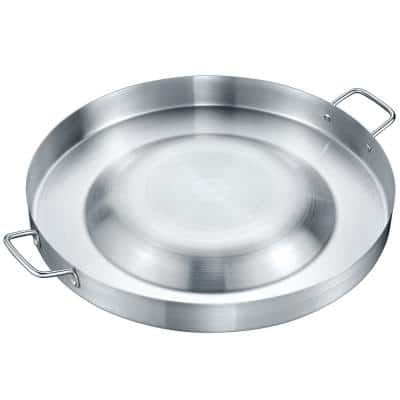 21.25 in. Stainless Steel Comal Grill Griddle/Skillet Discada Gas Frying Bowl Convexed Comal Coza