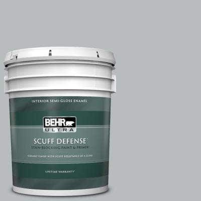 5 gal. #PPU18-05 French Silver Extra Durable Semi-Gloss Enamel Interior Paint & Primer