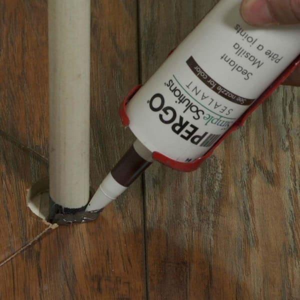 Dark Tone Laminate Floor Sealant, Flexible Caulk For Laminate Flooring