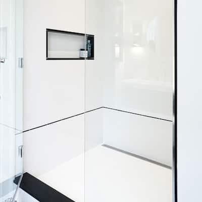 Nero 3/8 in. x 7-7/8 in. Ceramic Listelo Liner Wall Trim Tile