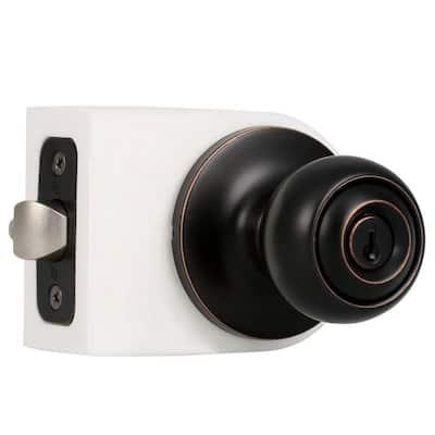 Premiere Essentials Oil-Rubbed Bronze Keyed Entry Hudson Door Knob