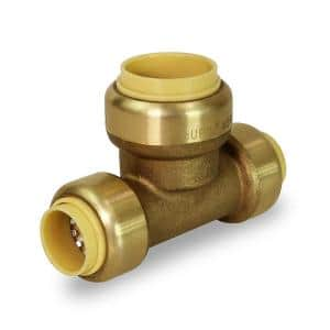 1/2 in. x 1/2 in. x 3/4 in. Push to Connect Reducing Tee Pipe Fitting for Pex, Copper and CPVC Piping