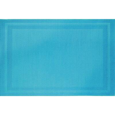 Aqua Basket Weave Placemat (Set of 8)