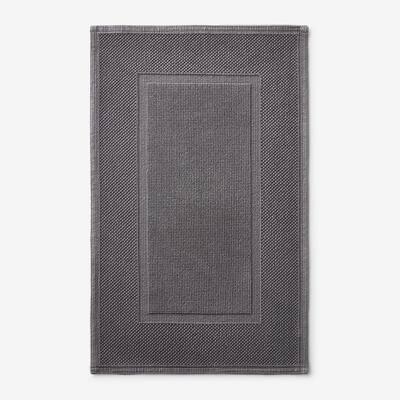 Legends Luxury Sterling Dark Gray 34 in. x 21 in. Cotton Bath Mat
