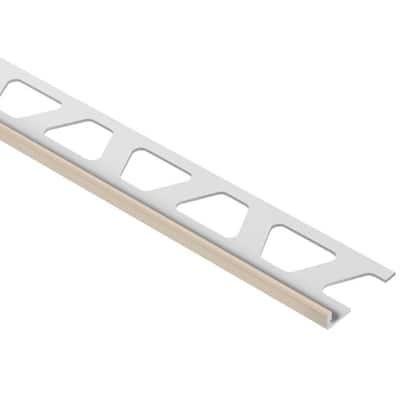 Jolly Light Beige Color-Coated Aluminum 1/8 in. x 8 ft. 2-1/2 in. Metal Tile Edging Trim