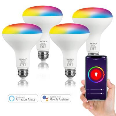 Dimmable Smart LED Light Bulb Multi-Color (4-Pack)