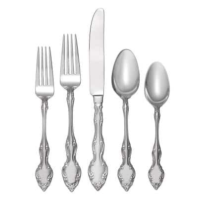 45-Piece Mikayla Stainless Steel Flatware Set