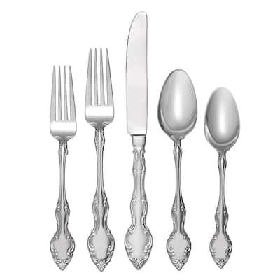 45-Piece Mikayla Stainless Steel Flatware Set