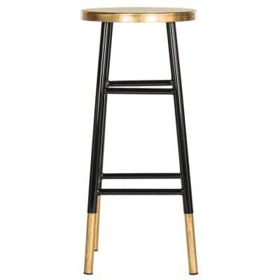 Emery 30 in. Black and Gold Bar Stool