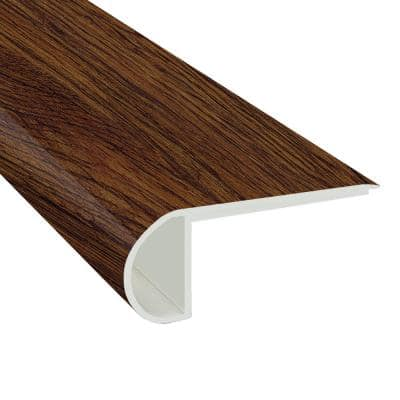 Antique Mahogany 3/4 in. T x 2.75 in. W x 94 in. L Stair Nose Vinyl Molding