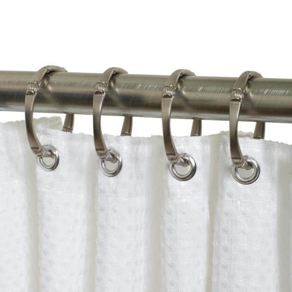 Zenna Home Neverrust Decorative Shower Rings In Nickel 12 Pack Ss07bn The Home Depot