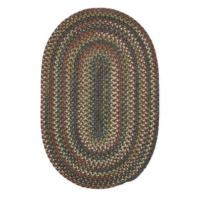 Cedar Cove Gray 3 ft. x 5 ft. Cabin Oval Accent Rug
