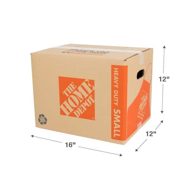 "16/"" x 12/"" x 12/"" Heavy-Duty Double Wall Cardboard Corrugated Boxes 100 lbs"