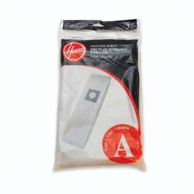 Type A Filtration Bags for Select Hoover Upright Cleaners (3-Pack)