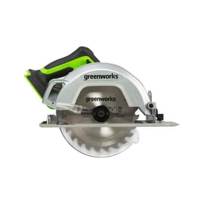 7-1/4 in. 24-Volt Battery Cordless Brushless Circular Saw (Tool-Only)