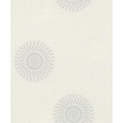 Eliel Off-White Medallion Off-White Wallpaper Sample